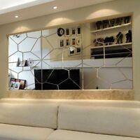 7x Fashion 3D Irregular Mirror Effect Wall Stickers Sticker Art Decal Home Decor