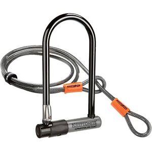 KRYPTONITE-Lock-Series-2-STD-U-Bicycle-Cycling-Lock-amp-4ft-Kryptoflex-Cable-NEW
