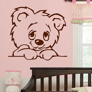 Large Nursery Baby Teddy Bear Wall Mural Giant Transfer