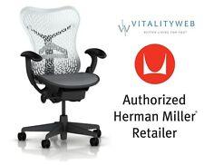 NEW HERMAN MILLER MIRRA ADJUSTABLE OFFICE DESK CHAIR  ALPINE SEAT GRAPHITE FRAME