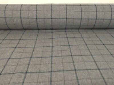 Skye Grey Blue Wool Type Pin Check 140cm wide Upholstery//Curtain//Craft Fabric