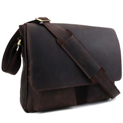 Leder Schultasche Messengertasche Umhängetasche Herren Echtes Taschen Ipad TwxY1q