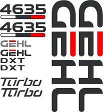 GEHL 4625SX Decal Kit Skid Steer Decals 4625SX 7 YEAR VINYL 4625