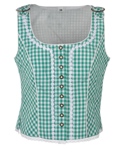 Mieder 34-46 Ramona Lippert® Trachtenbluse Damen Josephine rot,blau,grün Gr