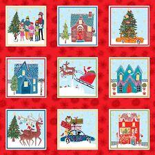 Christmas Wonderland Labels Panel Quilting Fabric 55 Individual Panels Makower