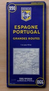 Carte-MICHELIN-ESPAGNE-PORTUGAL-Grandes-Routes-N-990
