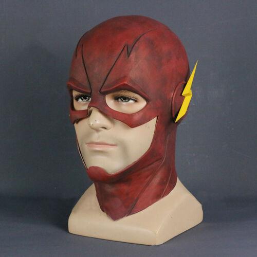 Le Flash Allen Cosplay Casque Halloween Visage Complet Latex Masque casque capuche