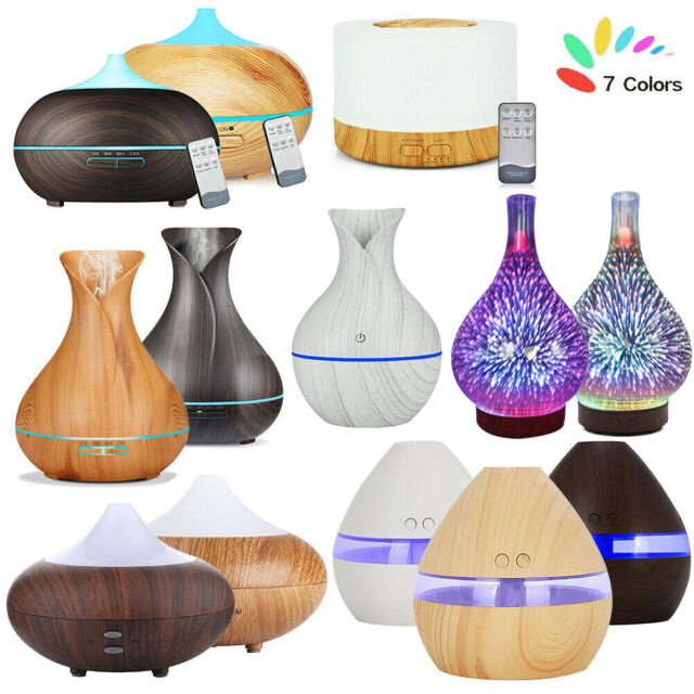 Ultrasonic Air Humidifier Essential Oil Diffuser USB LED
