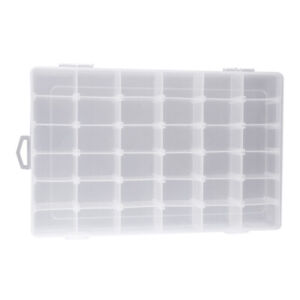 36-Grid Clear Plastic Adjustable Jewelry Organizer Box Storage Container Case