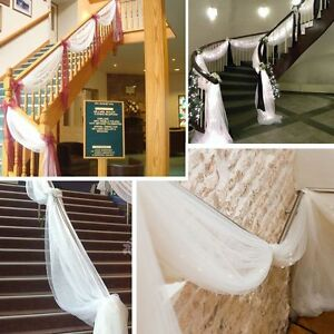30 colors sheer organza fabric table swags wedding party bow stair image is loading 30 colors sheer organza fabric table swags wedding junglespirit Choice Image