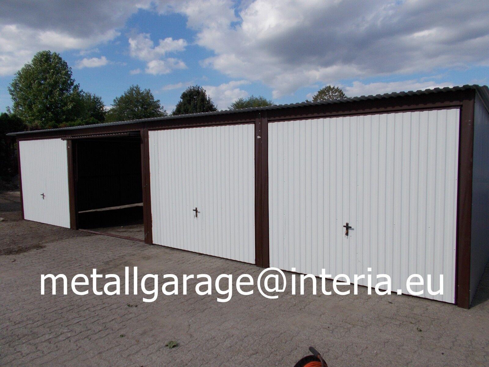 12x5  R9010 Blechgarage Fertiggarage Metallgarage LAGERRAUM GERÄTESCHUPPEN