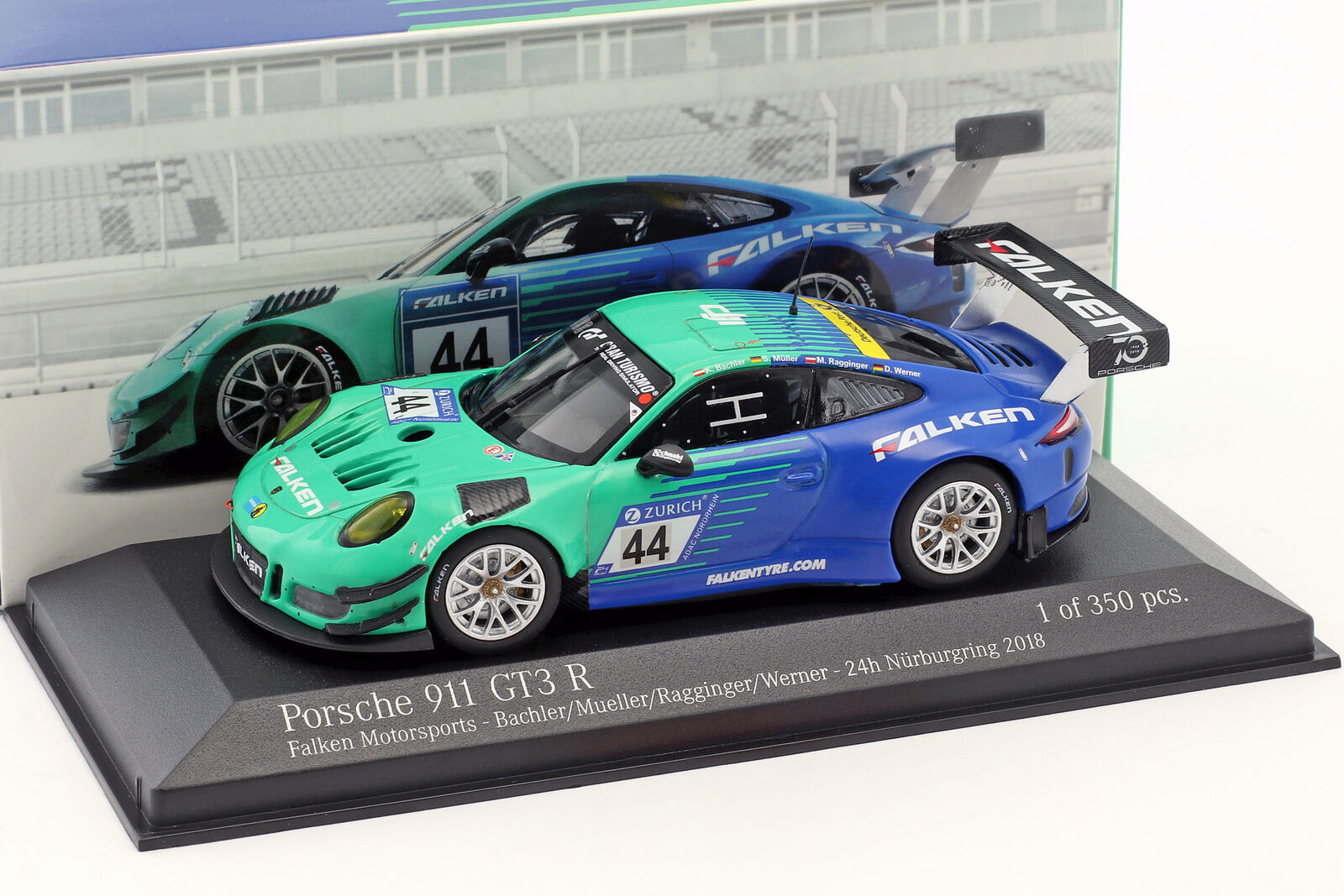 Porsche 911 (991) GT3 R  44 9th 24h Nürburgring 2018 Faucon 1 43 Minichamps