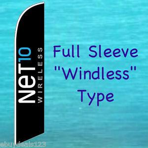 NET10 WIRELESS WINDLESS FEATHER FLAG Swooper Flutter Bow Banner Advertising Sign
