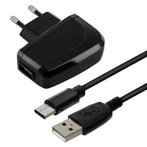 Chargeur Secteur 2A Smartphone et Câble USB Type C Flexible 1m Bluestar Noir