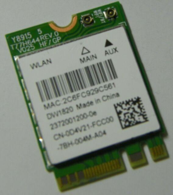 Dell Dw1820 WLAN WiFi Wireless 802 11ac Mini NGFF Card Module 0D4V21 D4v21