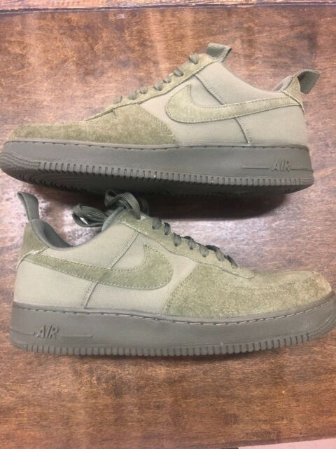 Nike Air Force 1 Low 07 Canvas Medium Olive 579927 200 Size 9.5
