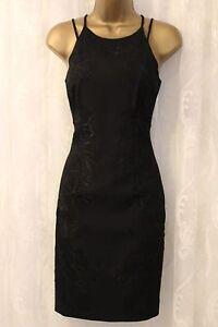 Karen-Millen-Floral-Lace-Pencil-Party-Occasion-Cruise-Little-Black-Dress-UK-8-36