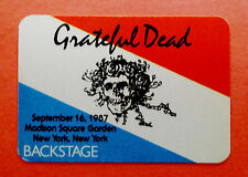 Grateful Dead Backstage Pass Mouse Bertha Skull MSG New York 9/16/1987 USA US