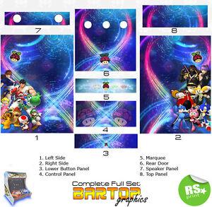 Retropie Full Half Sets Arcade Artwork Stickers Graphics Laminated