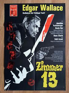 Edgar-Wallace-ZIMMER-13-Din-A1-Plakat-1964-Karin-Dor