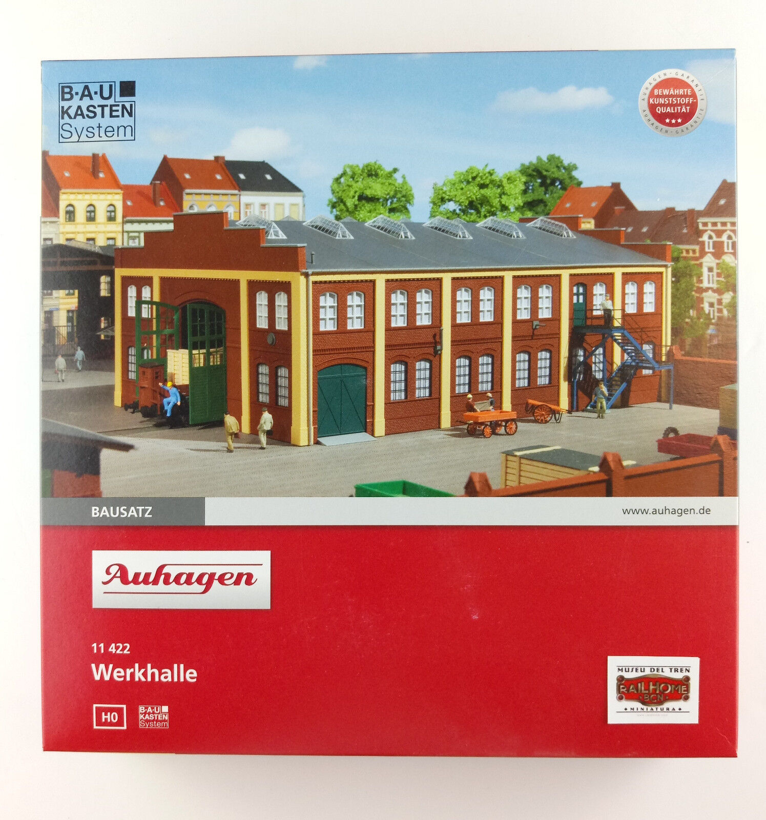 AUHAGEN H0 11422 - SHIP INDUSTRIAL - NEW - N GAUGE BUILDING KIT BOXED ORIGINAL