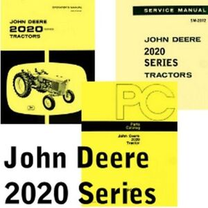 john deere 2020 tractor owner operators service parts catalog manual rh ebay ie John Deere Tractor Manuals John Deere Riding Mower Manuals