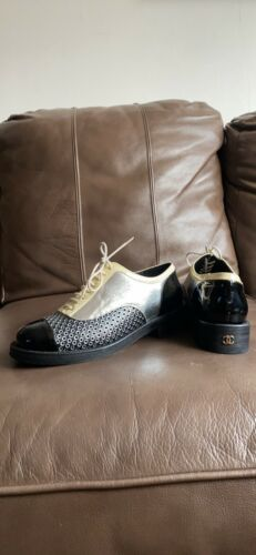 Chanel Patent Leather Oxford Shoes