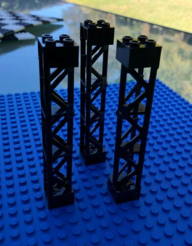 Lego City Town BLACK LATTICE TOWER QTYx 3 Structure Building Design 95347 NEW