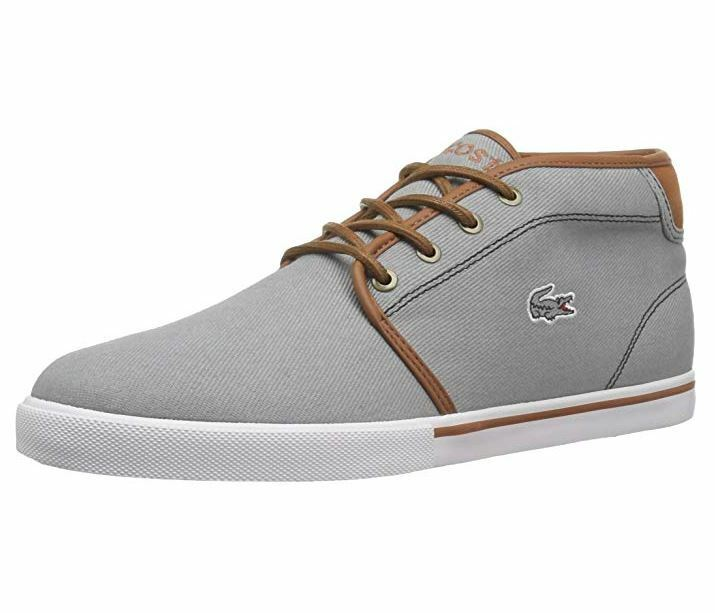 LACOSTE AMPTHILL 317 1 CAM CANVAS GREY BROWN 7-34CAM00016M3 MEN SHOES S-B