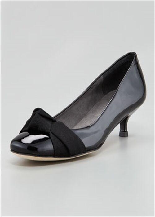 BNWT Beautiful Designer STUART WEITZMAN nero Patent scarpe 7.5