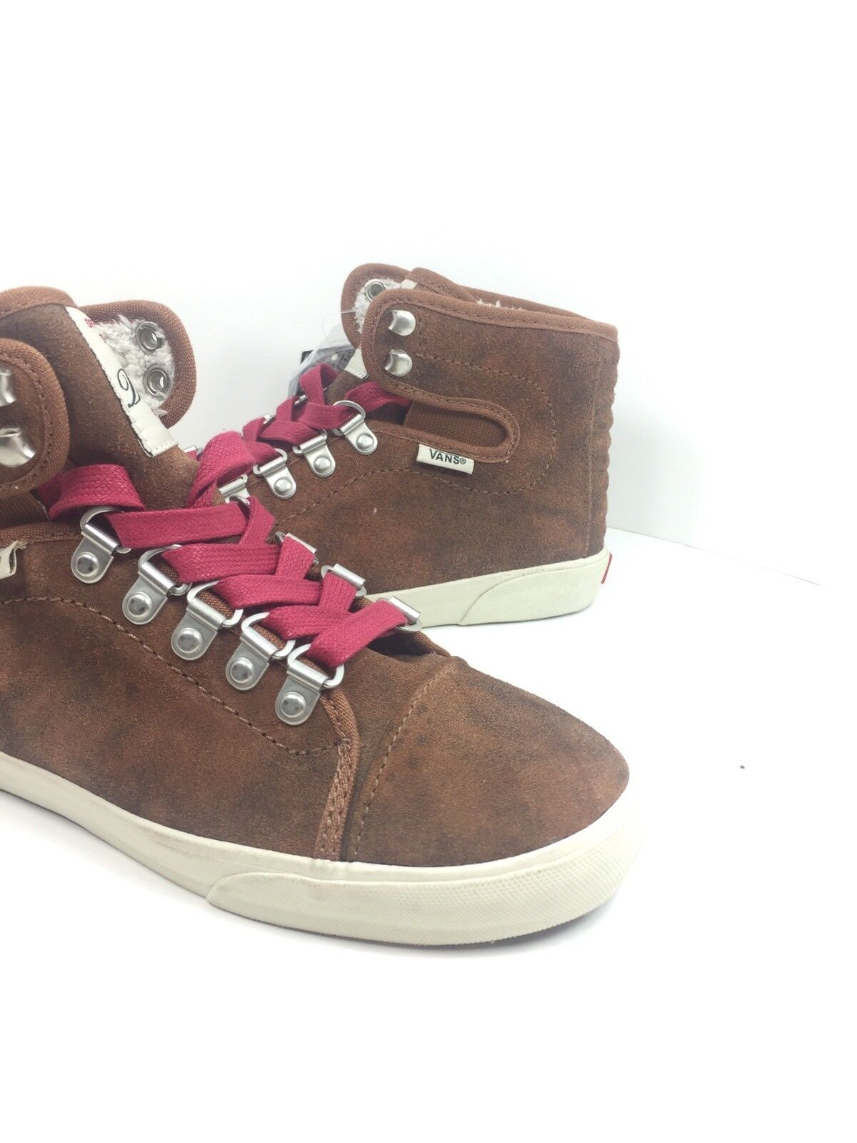 615a2fcbf53667 VANS Women s Hadley Hiker BOOTS Shoes Brown Red SNEAKERS Size 5 for ...