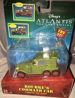 Disney Atlantis The Lost Empire Rourke's Command Car Sealed Package  Mattel 2000