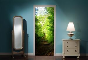 Door-Mural-Enchanted-Forest-View-Wall-Stickers-Decal-Wallpaper-21