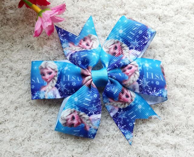 3.5 Baby Girl Toddlers Princess sofia/Kitty princess grosgrain ribbon hair bow