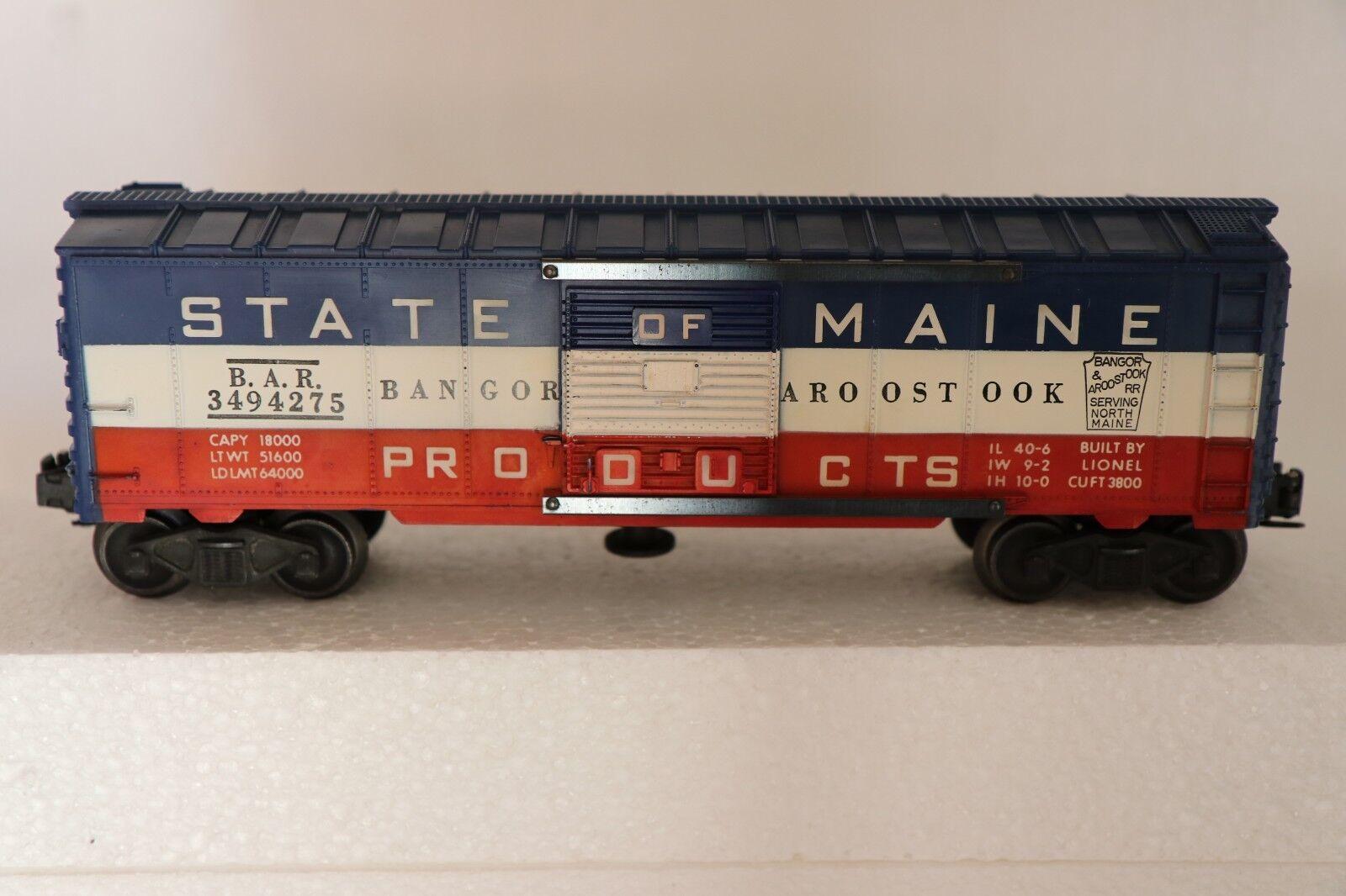 Lionel   3494-275 3494-275 3494-275 State of Maine Operating Box Car   - Built 1956 958 O o27 5909e2