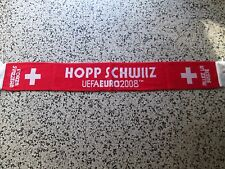 sciarpa SVIZZERA eufa euro austria switzerland 2008 football federation scarf a2