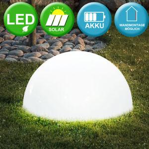 Solar Kugel Leuchte Led Garten Teich Außen Terrassen Lampe Outdoor