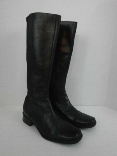Andrew Geller Voyage Boots Black Leather Stretch W
