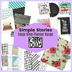 Simple-Stories-CARPE-DIEM-Planner-Accessories-amp-inserts-Filofax-compatible-NEW