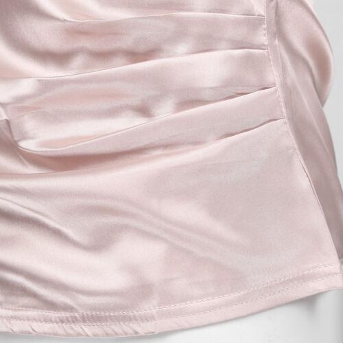 Women/'s V Neck Cross Wrap Cami Tank Tops Casual Sleeveless Satin Blouse Shirts