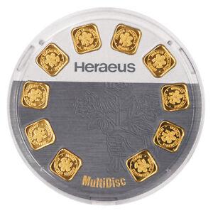 10 Gramm Goldbarren Multidisc 10x 1g Heraeus 999,9 Feingold Barren
