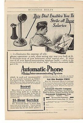 Advertising-print Enthusiastic 1914 Automatic Phone Automatic Electric Company Advertisement Year-End Bargain Sale 1910-19