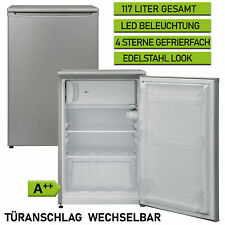 Tischkühlschrank 117 A++ Liter Gefrierfach Stand 54 cm breit silber