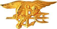"US Navy Seal Team Trident Gold Mini Lapel Pin 1-1/2"""