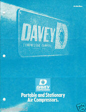 Equipment Brochure - Davey - Air Compressors Ads How it Works - 5 items (E3036)