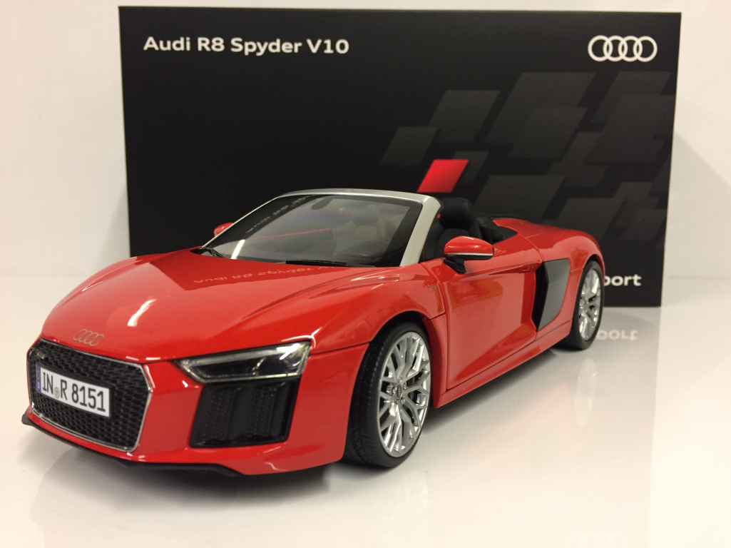 Audi R8 Spyder V10 Dynamite Rouge Rouge Rouge 1 18 Echelle iScale 5011618552 a15b83