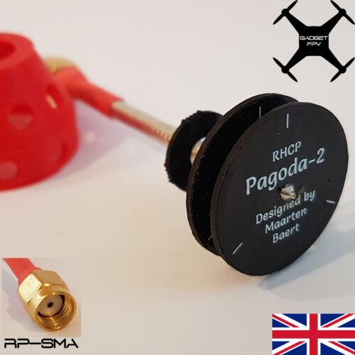 as designed by Maarten Baert Pagoda 2 FPV Antenna 5.8G 5dBi RHCP SMA or RP-SMA