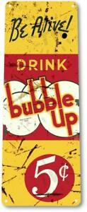 Bubble-Up-Soda-Cola-Drink-Rustic-Cola-Sign-Decor-Sign
