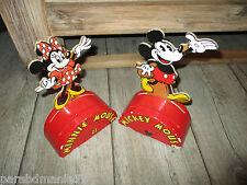 Vente Vilac-Anciennes tirelires Mickey&Minnie-En bois-Grands modéles-Années 80