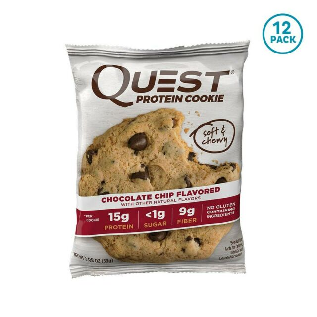 Quest Nutrition Chocolate Chip Protein Cookie, High Protein, Low Carb, Gluten...